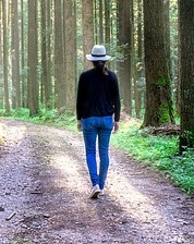 promenad utan gåstavar